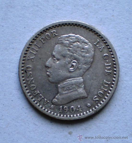 ALFONSO XIII 50 CTS 1904*0 VARIANTE OREJA RALLADA VER FOTOS (Numismática - España Modernas y Contemporáneas - De Isabel II (1.834) a Alfonso XIII (1.931))