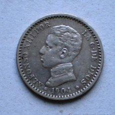 Monedas de España: ALFONSO XIII 50 CTS 1904*0 VARIANTE OREJA RALLADA VER FOTOS. Lote 31295328