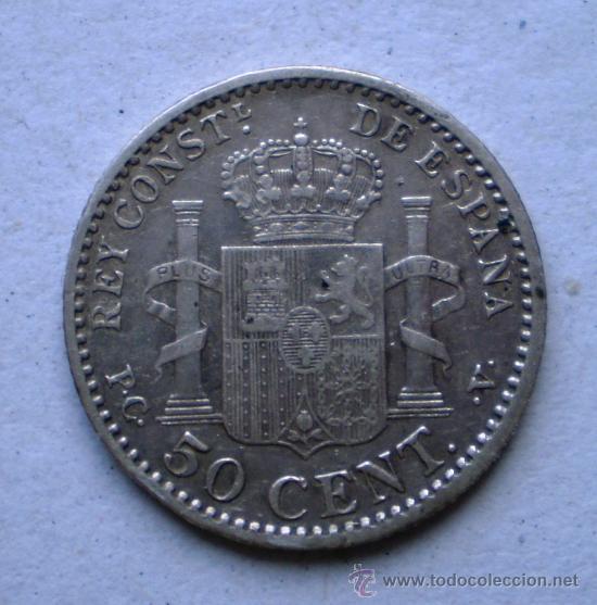 Monedas de España: Alfonso XIII 50 cts 1904*0 Variante Oreja Rallada Ver Fotos - Foto 2 - 31295328