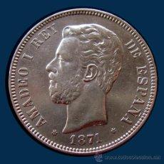 Monedas de España: AMADEO I . 5 PESETAS 1871 * 18.71 . PLATA. Lote 31321632