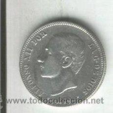 Monedas de España: MONEDA DE PLATA.ALFONSO XII. 2 PESETAS. DOS PESETAS. AÑO 1879. ESTRALLAS.* 18* 79. . Lote 31541227