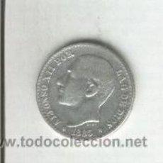 Monedas de España: MONEDA DE PLATA.ESPAÑA.ALFONSO XII. 50 CENTIMOS.AÑO 1885. ESTRELLAS.* 8*6. . Lote 31541369