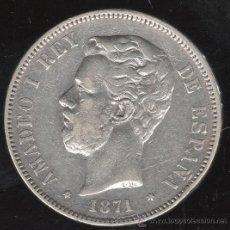 Monedas de España: MONEDA DE 5 PESETAS. AMADEO I. 1871. ESTRELLA 71. S.D.M. Lote 31598347