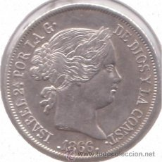Monedas de España: ISABEL II...40 CENTIMOS ESCUDO 1866 (REF 203). Lote 31618014