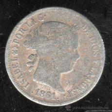 Monedas de España: MONEDA DE 2 REALES. ISABEL II. 1861. MADRID. Lote 31691588