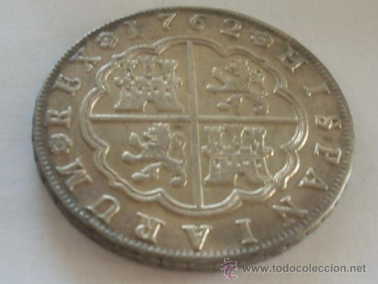 Preciosos 8 Reales Carlos Iii 1762 Madrid Jp M Comprar Monedas De