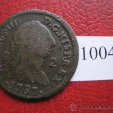 Monedas de España: ESPAÑA , 2 MARAVEDIS 1787 SEGOVIA, CARLOS III , 3º. Lote 32434339