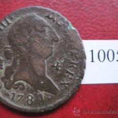 Monedas de España: ESPAÑA , 4 MARAVEDIS 1781 SEGOVIA, CARLOS III , 3º. Lote 32434386