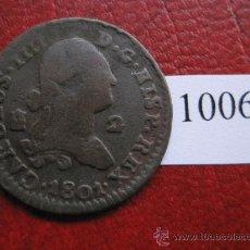 Monedas de España: ESPAÑA , 2 MARAVEDIS 1801 SEGOVIA, CARLOS IV , 4º. Lote 32452001