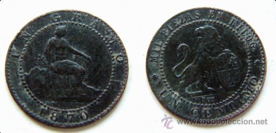 1 CENTIMO GOBIERNO PROVISIONAL 1870 (Numismática - España Modernas y Contemporáneas - De Isabel II (1.834) a Alfonso XIII (1.931))