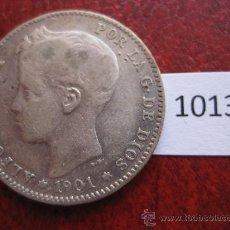 Monedas de España: ESPAÑA , 1 PESETA DE PLATA 1901 19-01 SMV ALFONSO XIII , 13. Lote 32653576