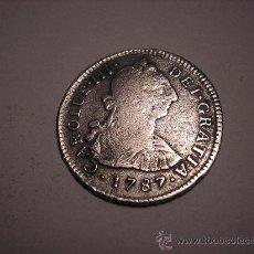 2 REALES DE PLATA DE 1787. MEXICO.REY CARLOS III