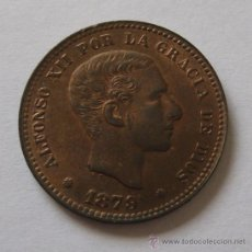 Monedas de España: ALFONSO XII 5 CENTIMOS 1879 SC- BRILLO ORIGINAL.. Lote 32921153