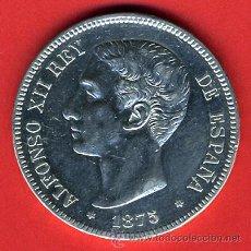 Monedas de España: MONEDA 5 PESETAS 1875 ,ESTRELLA 18-75 , DURO DE PLATA , ALFONSO XII , MBC , D1034. Lote 33001121