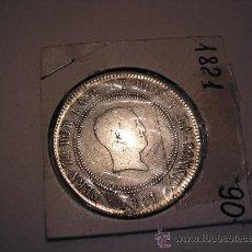 Monedas de España: 10 REALES RESELLADOS DE PLATA DE 1821.MADRID. REY FERNANDO VII. Lote 33074086
