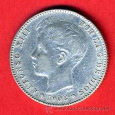 Monedas de España: MONEDA 1 PESETA 1902 , ESTRELLAS 19 - 02 , EBC , ALFONSO XIII , ORIGINAL , M948. Lote 33263622
