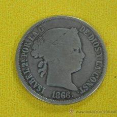Monedas de España: MONEDA DE PLATA, ISABEL II, 1866, 40 CENTIMOS, ESCUDO. 23 MM.. Lote 33342485