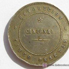 Monedas de España: REVOLUCIÓN CANTONAL.5 PESETAS.1873.CARTAGENA. Lote 33412740