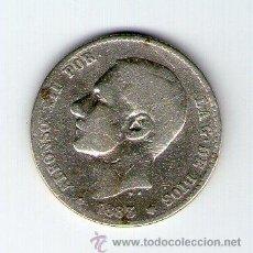 Monedas de España: ALFONSO XII 1 PESETA 1883 MS M ML071. Lote 33514410