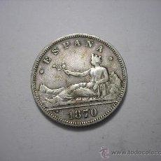 Monedas de España: 2 PESETAS DE PLATA DE 1870. 18-73.GOBIERNO PROVISIONAL. Lote 109009930