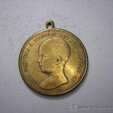 Monedas de España: MEDALLA DE BRONCE DE ALFONSO XIII .INAGURACIÓN DEL CANAL ALEMAN. Lote 33706668