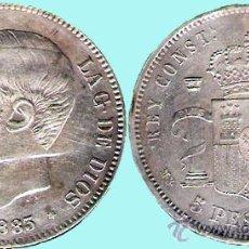 Monedas de España: ALFONSO XII . 5 PESETAS PLATA 1883 * 83 DE MADRID MSM CONSERVACIÓN EBC- . Lote 33783790