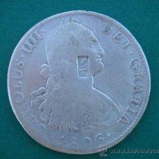 Monedas de España: RAROS 8 REALES DE CARLOS IIII DE 1806, CON RESELLO -A S-. CECA MÉJICO TH. 26,9 GRS. BC. . Lote 85406107