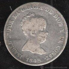 Monedas de España: ISABEL II. 4 REALES. 1848. MADRID CL. Lote 34035067