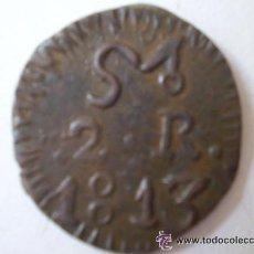 Monedas de España: FERNANDO VII 1813 2 REALES MORELOS VER FOTOS . Lote 34285826