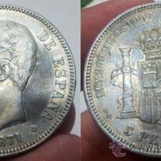 Monedas de España: AMADEO I 5 PESETAS 1871 *18 - 75 EBC- AG . Lote 34310639