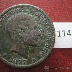 Monedas de España: 5 CENTIMOS 1877 ALFONSO XIII. Lote 34447946