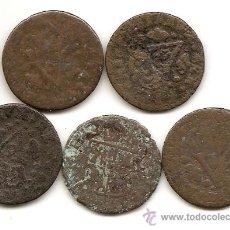 Monedas de España: VALENCIA: 5 MONEDAS ANTIGUAS DE SEISENO. Lote 34552120