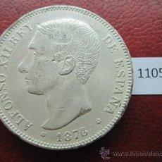 Monedas de España: ESPAÑA , 5 PESETAS , DURO , 1876 DEM FALSA DE EPOCA EN COBRE , ALFONSO XII , 12, FALSO. Lote 34591630