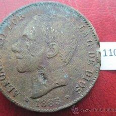 Monedas de España: ESPAÑA , 5 PESETAS , DURO , 1885 MSM FALSA DE EPOCA EN COBRE , ALFONSO XII , 12, FALSO. Lote 34591822