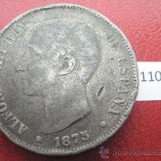 Monedas de España: ESPAÑA , 5 PESETAS , DURO , 1875 DEM FALSA DE EPOCA EN CALAMINA , ALFONSO XII , 12, FALSO. Lote 34592127