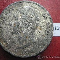 Monedas de España: ESPAÑA , 5 PESETAS , DURO , 1875 DEM FALSA DE EPOCA EN CALAMINA , ALFONSO XII , 12, FALSO. Lote 34592183