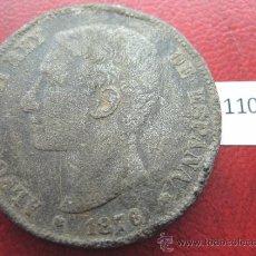 Monedas de España: ESPAÑA , 5 PESETAS , DURO , 1876 DEM FALSA DE EPOCA EN CALAMINA , ALFONSO XII , 12, FALSO. Lote 34592404