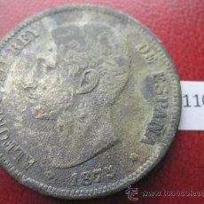 Monedas de España: ESPAÑA , 5 PESETAS , DURO , 1875 DEM FALSA DE EPOCA EN CALAMINA , ALFONSO XII , 12, FALSO. Lote 34592654