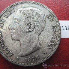 Monedas de España: ESPAÑA , 5 PESETAS , DURO , 1875 DEM FALSA DE EPOCA EN CALAMINA , ALFONSO XII , 12, FALSO. Lote 34592691