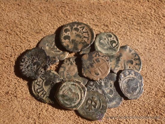 LOTE DE 13 DINEROS VALENCIANOS Y DE ARAGÓN (Numismática - España Modernas y Contemporáneas - De Reyes Católicos (1.474) a Fernando VII (1.833))