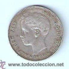 Monedas de España: UNA PESETA ALFONSO XIII 1900 SMV ESTRELLAS 19 - 00 . Lote 35197346