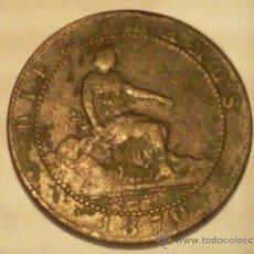 Monedas de España: MONEDA GOBIERNO PROVISIONAL, 10 CENTIMOS, 1870 - BARCELONA. Lote 35229902