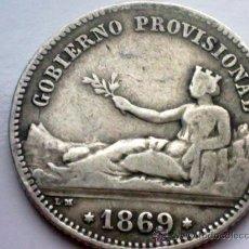 Monedas de España: ESPAÑA - 1 PESETA DE PLATA DE 1869 - ORIGINAL - GOBIERNO PROVISIONAL. Lote 35314315