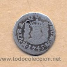 Monedas de España: MONEDA 28 - FELIPE V - 1/2 REAL 1745 M - CECA DE MÉXICO 15 MM. Lote 35503812
