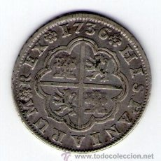 Monedas de España: FELIPE V 2 REALES DE PLATA 1736 SEVILLA AP MONEDA PLATA ESPAÑA. Lote 35556923