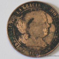 Monedas de España: MONEDA ANTIGUA DE ISABEL II - 1867 - 5 CENTIMOS DE ESCUDO.. Lote 36116667