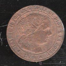 Monedas de España: MONEDA ISABEL II. 1/2 CENTIMO DE ESCUDO. SEGOVIA. 1868.. Lote 90501697