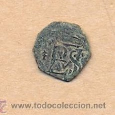 Monedas de España: MONEDA 465 FELIPE II - COBRE BLANCA NO SE VE CECA - ARMIÑO 1527 - 1554 13 X 14 MM 0.5 GRAMOS. Lote 36343898