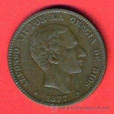 Monedas de España: MONEDA 10 CENTIMOS ALFONSO XII , 1877 , MBC+ , COBRE, ORIGINAL , M1054. Lote 36662795