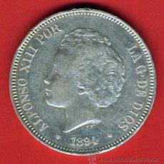 Monedas de España: MONEDA 5 PESETAS ALFONSO XIII ,1894 , ESTRELLAS 18-94 , EBC+ , DURO PLATA , ORIGINAL , M1070. Lote 36663698